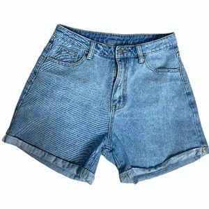 Shein Hi rise mom Jean shorts size medium